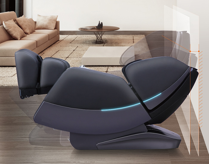 The Veleta massage chair is designed with a smart space saving function