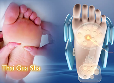 Guasha foot massage