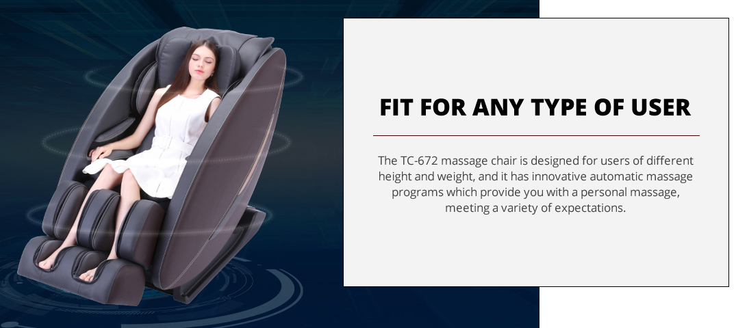 Tokuyo TC672 massage chair for all users