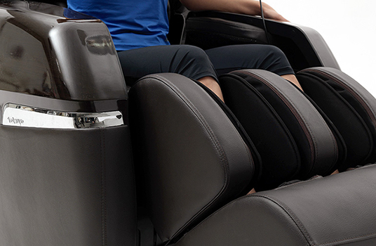 Airbag calf massage with massage rollers