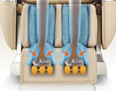 Air Pressure and Roller Massage for the Feet iRest A33