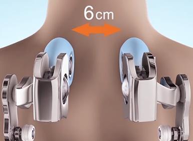 S-shape back massage range