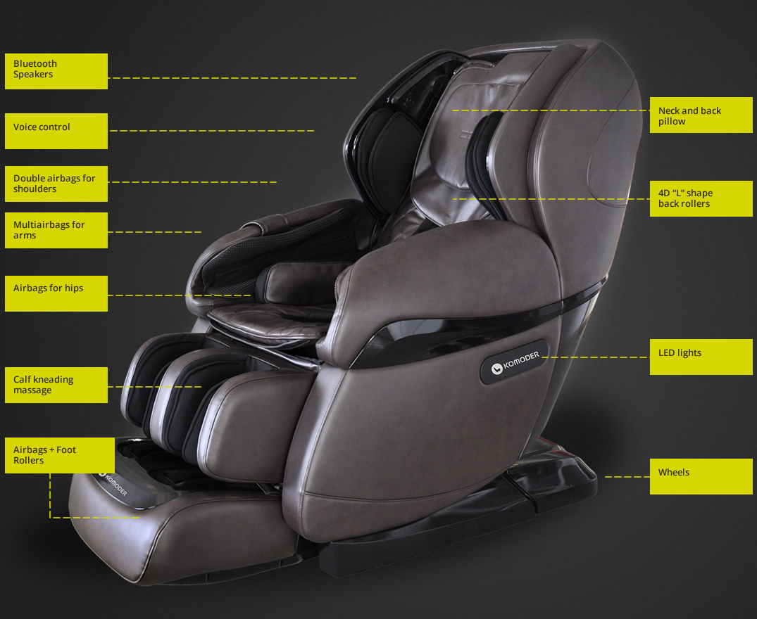 4D Massage Chair Komoder Luxury KM9000 by Komoder