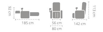 Dimensiuni Komoder RK 7203